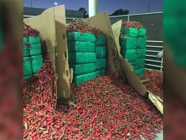 Marijuana, ascunsă într-un transport cu ardei iuți