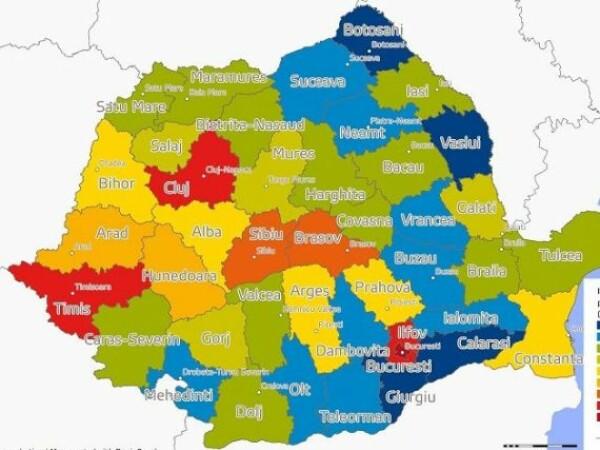 harta judetelor