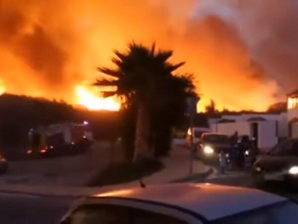 Incendiu uriaș în stațiunea Marbella