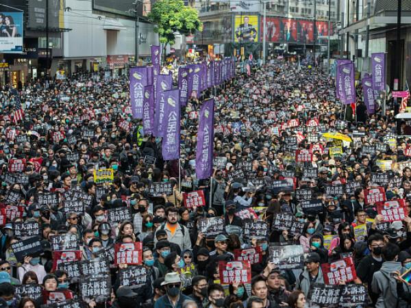 Manifestație în Hong Kong pentru respectarea drepturilor omului - 2