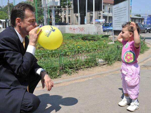Ludovic Orban umfland un balon
