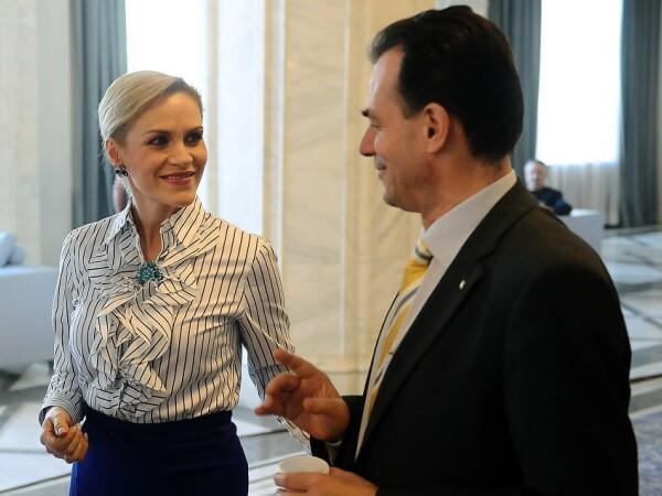Gabriela Firea si Ludovic Orban