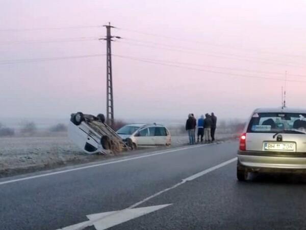 Accident cu 4 masini în Bihor