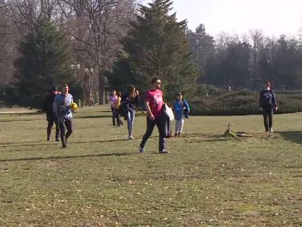 Oameni in parc