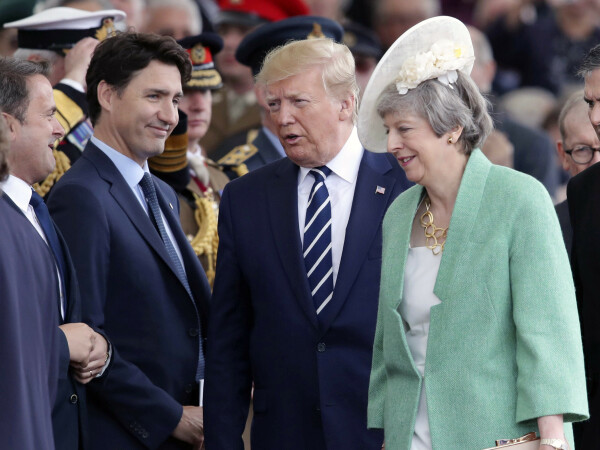 Justin Trudeau, Donald Trump, Theresa May