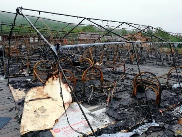 Incendiu intr-un parc de distractii din estul Rusiei - 1