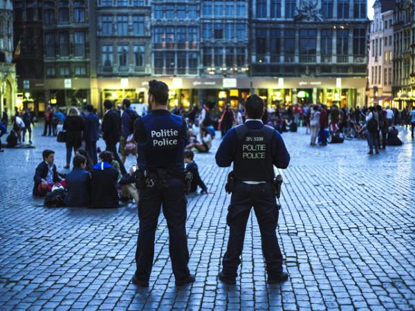 politie in Bruxelles, Belgia