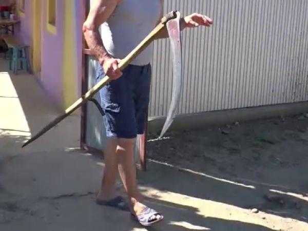Un bărbat din Vaslui și-a ucis nevasta cu coasa. Filmul crimei povestit de vecini
