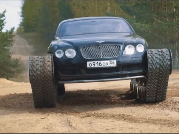 Rușii au transformat un Bentley într-un tanc