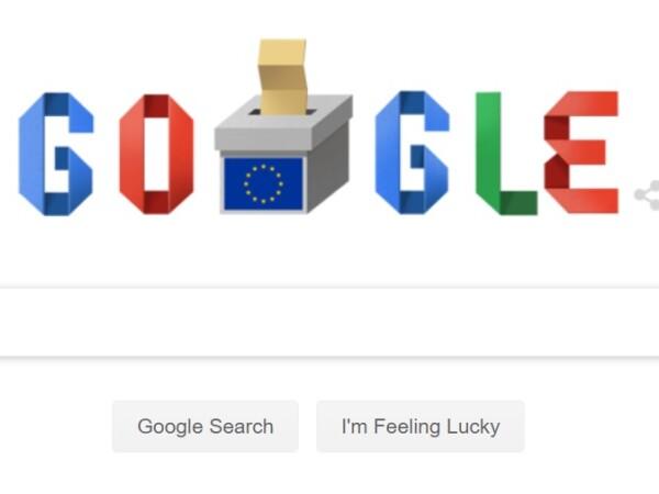 Google marchează ziua alegerilor europarlamentare din România printr-un doodle