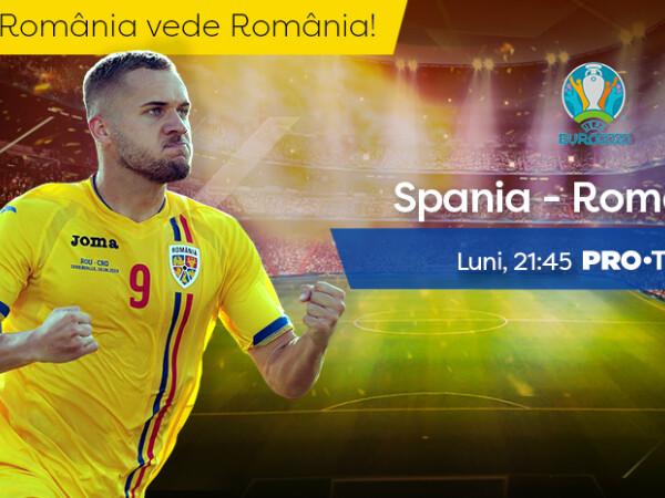 ROMÂNIA - SPANIA, LIVE la Pro TV. Naționala, susținută de 12.000 de români