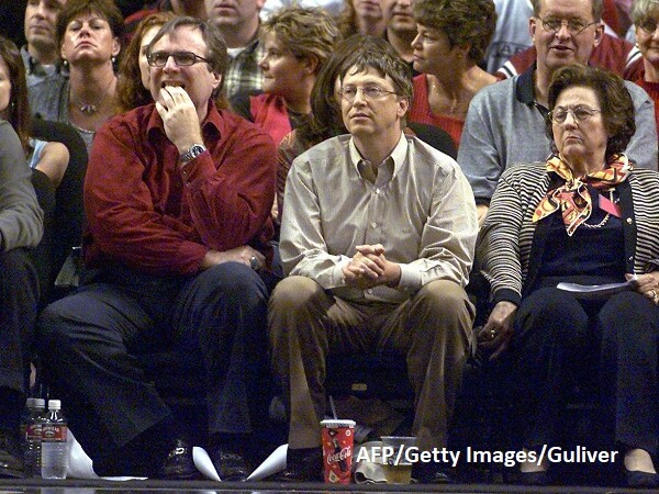 Paul Allen și Bill Gates - AFP/Getty