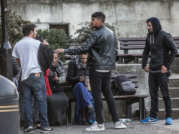 Tabără de imigranți români din Londra