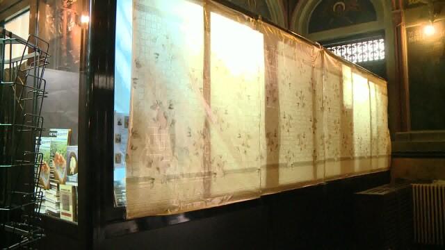 geam spart Catedrala