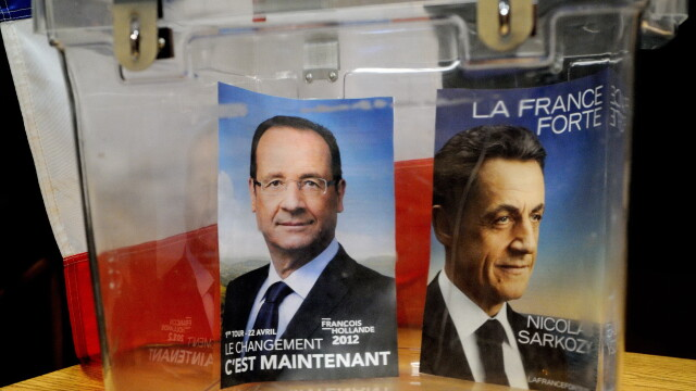 Nicolas Sarkozy si Francois Hollande
