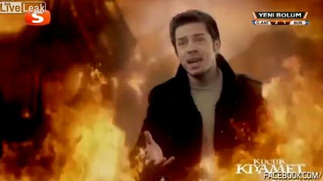 VIDEO. Gafa unui post de televiziune din Turcia.Ce au vazut telespectatorii care se uitau la un film