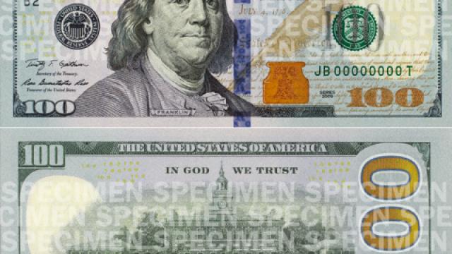 Cum va arata noua bancnota de 100 de dolari. SUA va inlocui pe piata 820 de milioane de hartii vechi