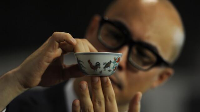 Un vas de ceramica din timpul dinastiei Ming a spulberat toate recordurile la o licitatie. Suma platita este exorbitanta