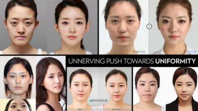 Femeile din Coreea de Sud sunt atat de schimbate dupa operatiile estetice, incat primesc noi acte de identitate. FOTO