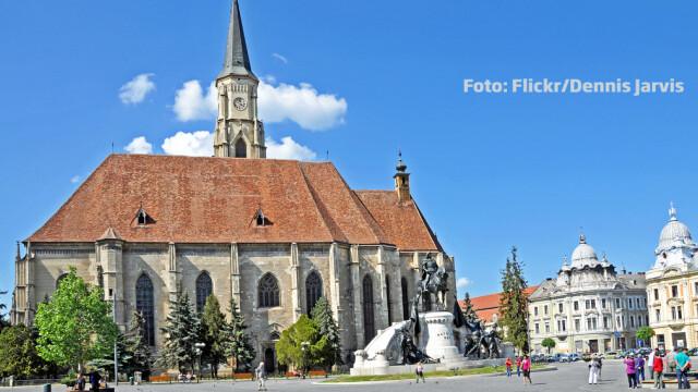 Cluj centru statuia lui Matei Corvin