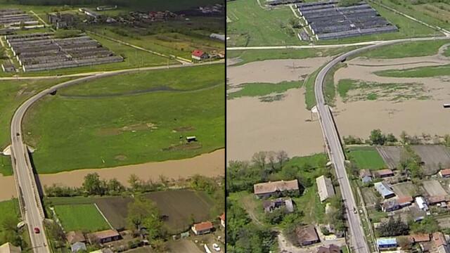 inundatii inainte si dupa in Teleorman
