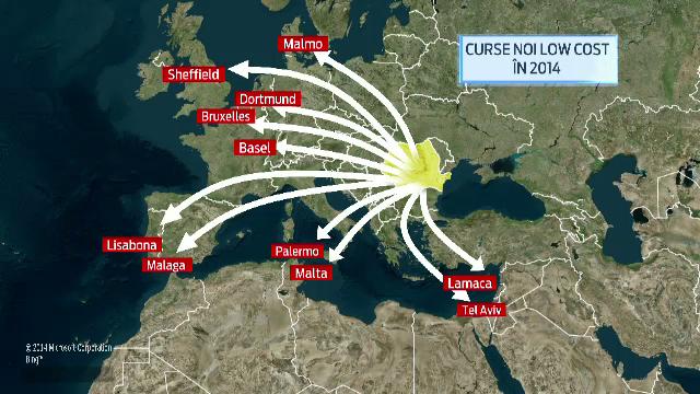 Companiile low cost vor duce Aeroportul Henri Coanda la un numar record de calatori. Ce mai inseamna un bilet ieftin in 2014