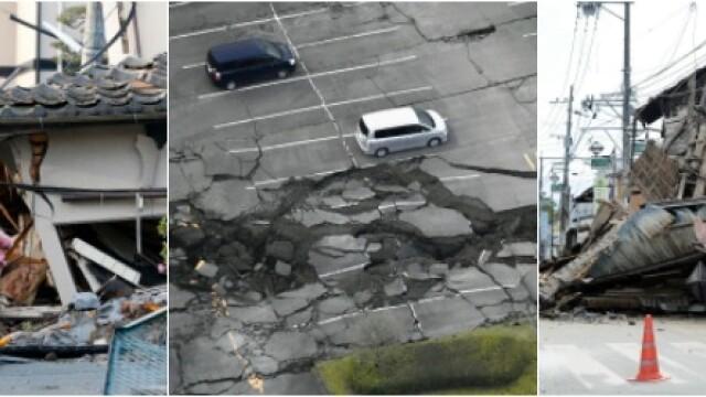 Bilantul cutremurelor devastatoare din Japonia a urcat la 32 de morti si 2.000 de raniti. Versantul unui munte s-a prabusit - Imaginea 7