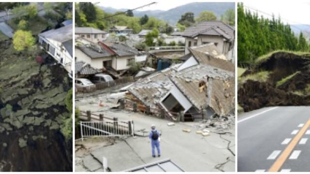 Bilantul cutremurelor devastatoare din Japonia a urcat la 32 de morti si 2.000 de raniti. Versantul unui munte s-a prabusit - Imaginea 8