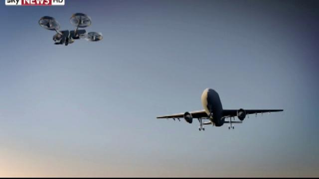 avion lovit de drona