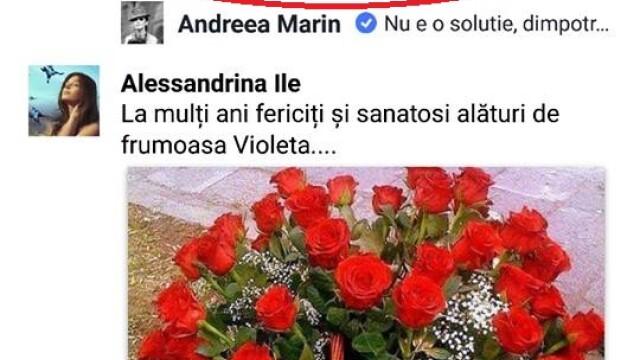 Andreea Marin a lansat un apel pe Facebook dupa ce un tanar i-a scris ca se va sinucide chiar de ziua lui