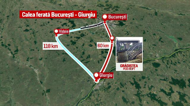 Podul de cale ferata rupt de inundatii - problema ignorata de 14 ministri. Cum se traduc in timp si bani pierderile rezultate
