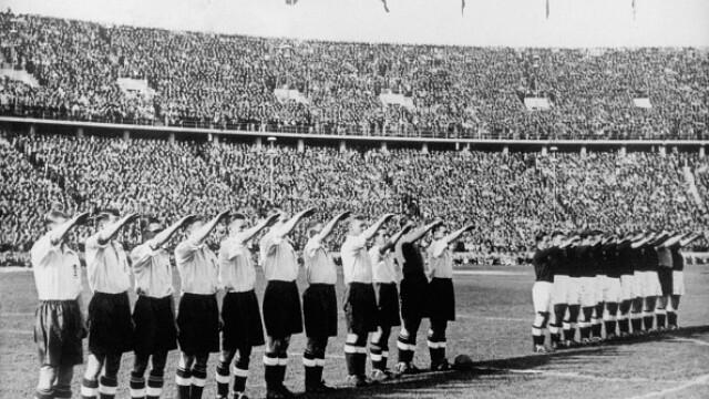 salut nazist, echipa de fotbal,