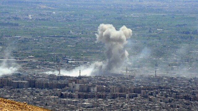 atac asupra orasului douma din siria