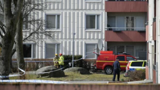Bombă artizanală descoperită într-un bloc din Göteborg, detonată. Anchetă a autorităților