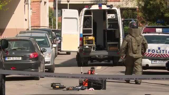 Alertă cu bombă în cartierul Dorobanţi. Pirotehniştii au adus un robot telecomandat