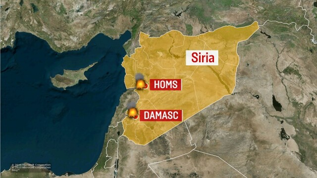 harta atacuri siria