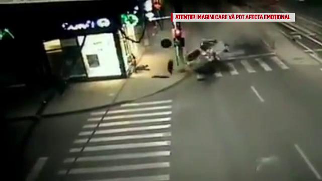 Accident grav în Brăila. Un tânăr a fost aruncat din mașină pe trotuar