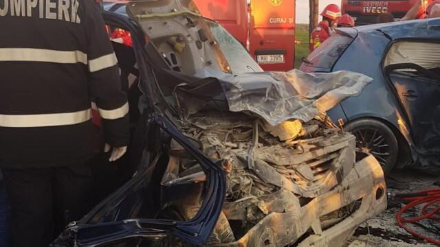 Accident grav în Ilfov: 7 persoane, printre care şi 2 copii, sunt rănite
