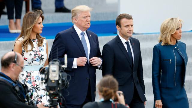 Președintele Franței îl vizitează pe Trump. Discuții despre Iran și Vladimir Putin