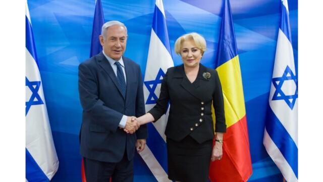 Dăncilă s-a întâlnit cu Netanyahu. Premierul israelian a salutat adoptarea memorandumului privind ambasada României