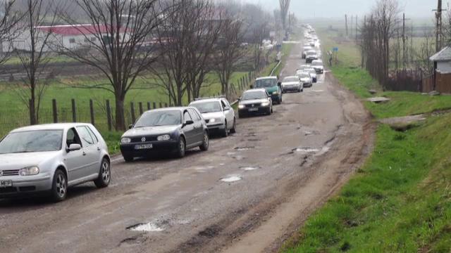 Protest al șoferilor din Botoșani. De ce au blocat traficul din oraș