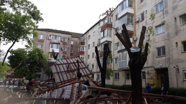 Furtună cu grindină la Timișoara! Vântul a rupt copaci și a smuls acoperișuri. VIDEO - Imaginea 2