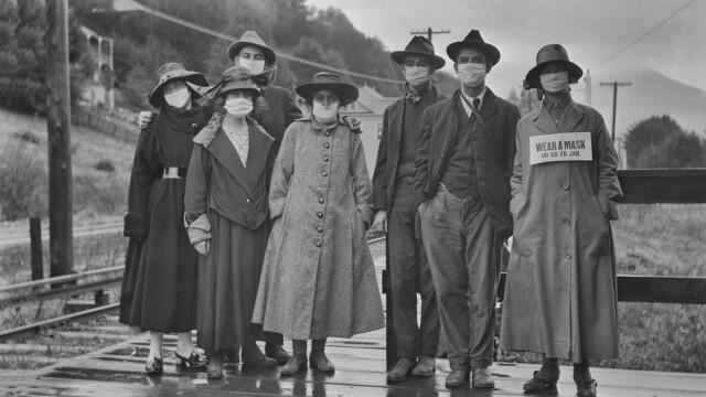 Imagini istorice. Cum arăta lumea în timpul pandemiei de gripă spaniolă din 1918 - Imaginea 14