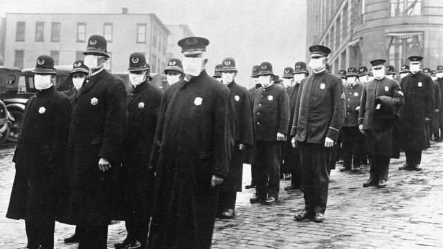 Imagini istorice. Cum arăta lumea în timpul pandemiei de gripă spaniolă din 1918 - Imaginea 15
