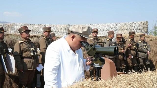 Kim Jong Un a supervizat un exerciţiu militar. Anunțul agenției de presă nord-coreene - Imaginea 3