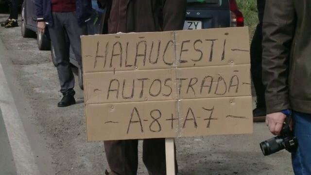 Protest cu sute de maşini pe drumurile din Moldova, pentru urgentarea construirii de autostrăzi. GALERIE FOTO - 1