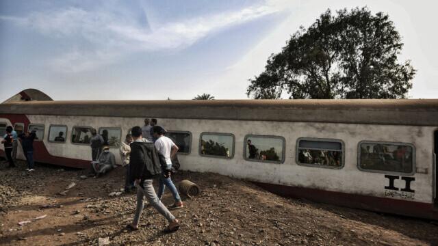 Tren deraiat în Egipt - 1
