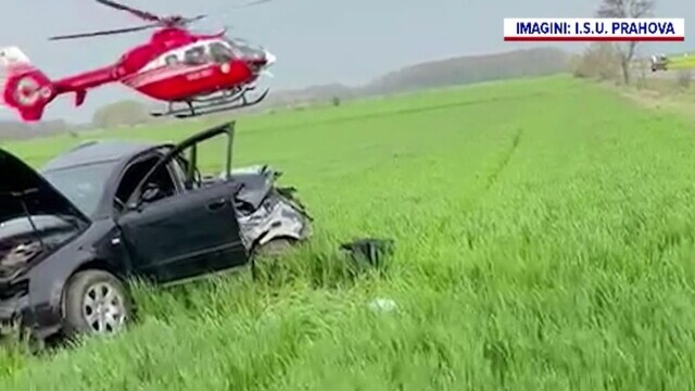 Accident violent în Prahova. Un tânăr a murit după ce s-a izbit cu autoturismul de un copac