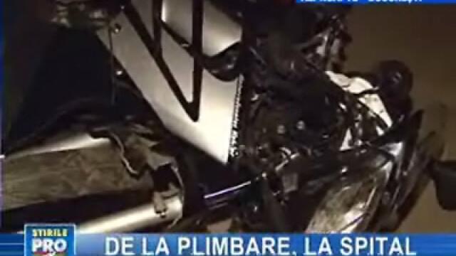 Cursă cu scuterul sfârşită la spital pentru doi adolescenţi din Capitală