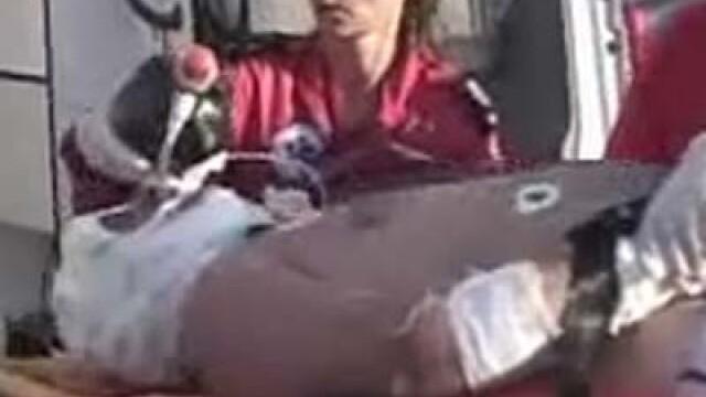 Turistul italian a fost transportat la spital